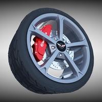Corvette Grand Sport Wheel 3D Model