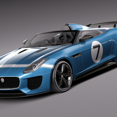 Jaguar Project 7 Concept 2013 3D Model