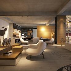 detailed office showroom 3D Model
