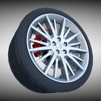 Maserati Quattroporte GT- S Wheel 3D Model