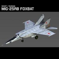 s Mig 25RB Foxbat B 3D Model