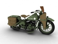Harley-Davidson WLA 1939 WW2 3D Model