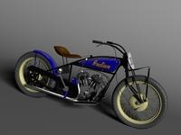 Indian Flat Track Racer 1930 3D Model