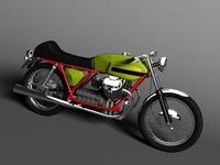 Moto Guzzi V7 Sport 1970 3D Model