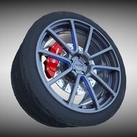 Axis Sport Wheel 3D Model