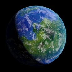 Photorealistic Planet Emakton 3D Model