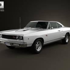 Dodge Coronet R/T Coupe 1968 3D Model