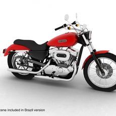 Harley Davidson XL883 Sportster Custom 2009 3D Model