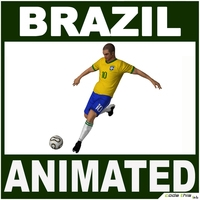 Soccer Player Brazil CG 3D Model
