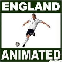 Soccer Player England CG 3D Model