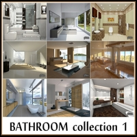 Bathroom collection 1 3D Model