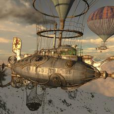 Steampunk/Dieselpunk Airship 3D Model