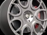 Alfa Brera rim 3D Model