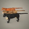 19 44 09 989 tiger lion black leopard 15 4