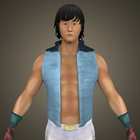 Young Male Chinese Fighter 3D Model