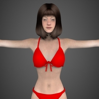 Young Woman Tanisha 3D Model