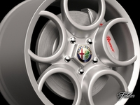 Alfa 8C rim 3D Model