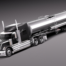 International Lonestar 2014 Tanker Truck 3D Model