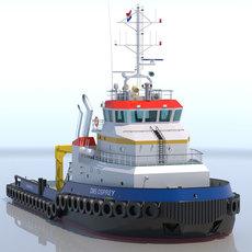 Shoalbuster Tug DMS Osprey 3D Model