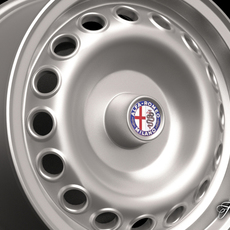 Alfa Romeo Giulia rim 3D Model