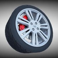 Honda Alloy Wheel 3D Model