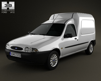 Ford Courier Van UK 1999 3D Model