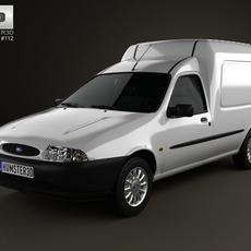 Ford Courier Van UK 1999 3D Model