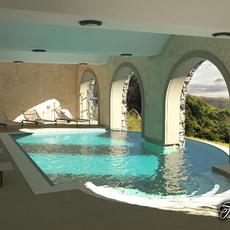 Swimming pool 01 3D Model