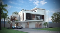 Luxury Contemporary House 3D Model