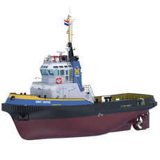 Harbour Tug Smit Japan 3D Model
