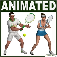 Tennis Players Pack Collection 3D Model