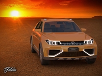 Volkswagen Crossblue coupè STD MAT 3D Model