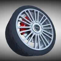 Mansory Wheel 3D Model