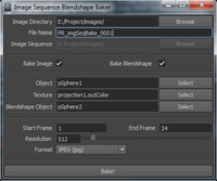 Image Sequence Blendshape Baker for Maya 1.0.0 (maya script)