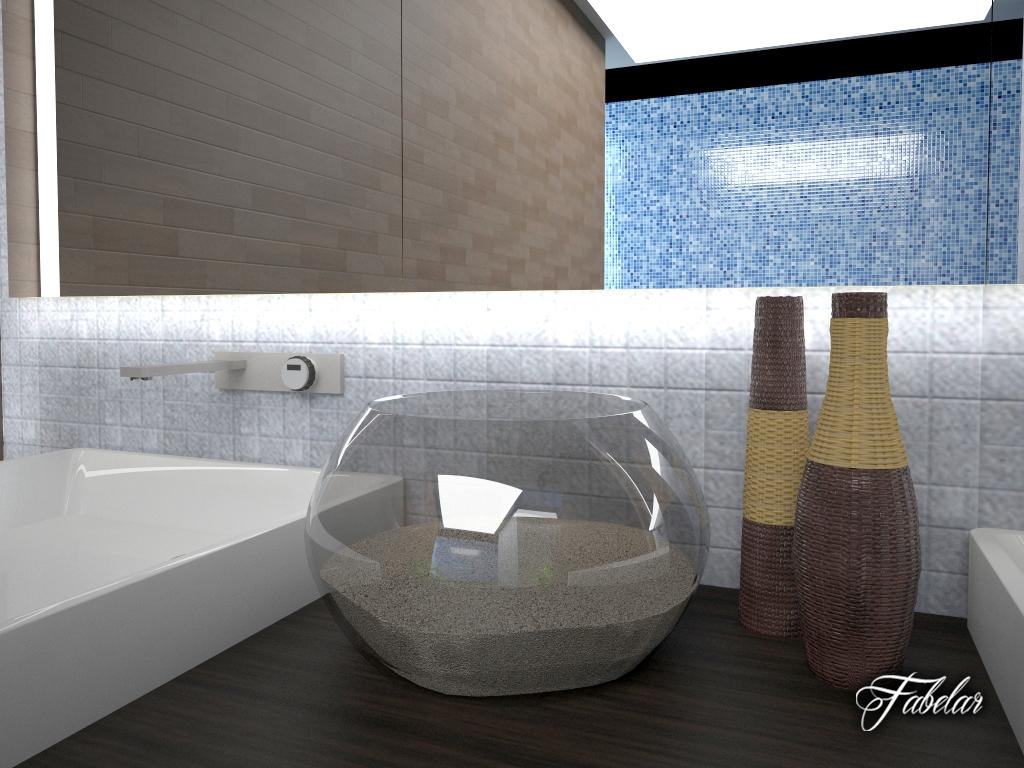 Bathroom 13 3d model for Bathroom design 3d model