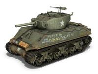 M4A3E2 - Sherman Assault Tank - Jumbo 3D Model