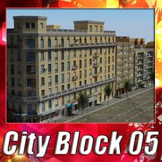 City Block 05 3D Model