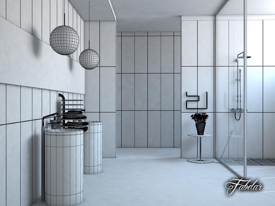 Bathroom 15 3d model for Bathroom design 3d model