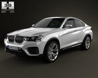 BMW X4 2014 3D Model