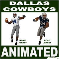 Dallas Black American Football Player CG 3D Model