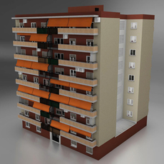 Typical spanish building 3D Model