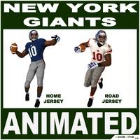 Giants Black American Football Player CG 3D Model
