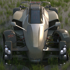 Tramotana sports car 3D Model