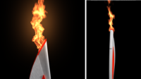 Animated Olympic Fire 2014 (Maya) 3D Model