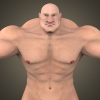 Fantasy Muscular Man 3D Model