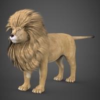 Realistic Lion 3D Model