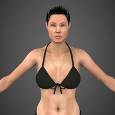 Realistic Female Angela 3D Model