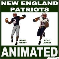 Patriots Black American Football Player CG 3D Model