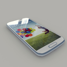 Samsung I9506 Galaxy S4 (White Color ) 3D Model