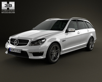 Mercedes-Benz C-Class 63 AMG estate 2012 3D Model
